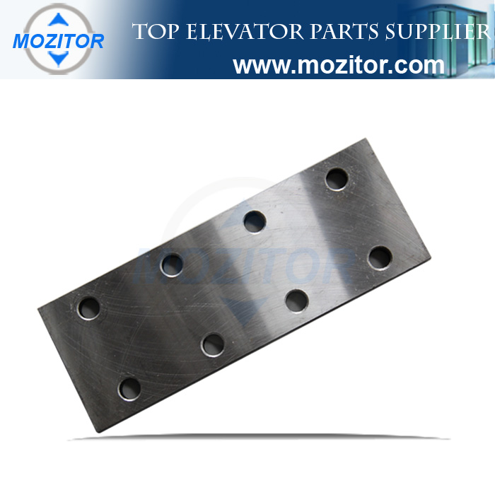Fishplate for elevator guide rail
